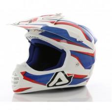 Acerbis Шлем кроссовый X-FIBER SCRATCH red/blue