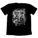 Футболка байкерская ROUTE 66 BULLET HOLES
