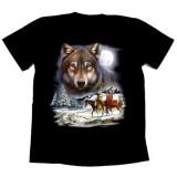 Футболка байкерская WOLF SPIRIT