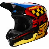 Мотошлем Fox V1 Czar Helmet Black/Yellow