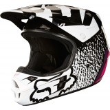 Мотошлем Fox V1 Halyn Helmet Black/Pink
