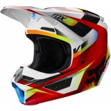 Мотошлем Fox V1 Motif Helmet Red/White