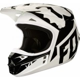 Мотошлем Fox V1 Race Helmet White/Black/Green