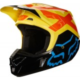Мотошлем Fox V2 Preme Helmet Black/Yellow