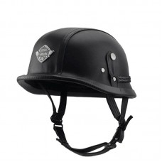 Шлем немецкий каска кожаная чёрная