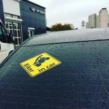 Наклейка на машину Biker in car