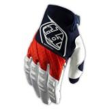 Перчатки TLD Grand Prix white-blue-red