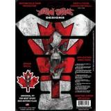 Наклейка на бак CANADA RIP CKULL