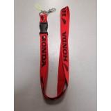 Шнурок для ключей HONDA красный чёрный