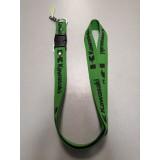 Шнурок для ключей KAWASAKI зелёный чёрный