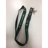 Шнурок для ключей KAWASAKI чёрный зелёный