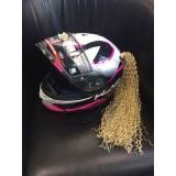 Пони-хвост на мотошлем блонд 40см